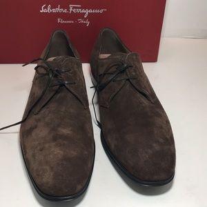 Salvatore Ferragamo Fortunato2 cm Brown Suede 10 E